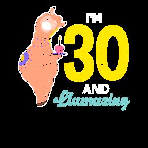 Lama Alpaka 30. Geburtstag