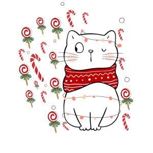 Christmas Candy Cat Design