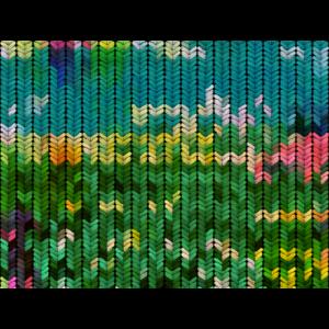 Grün gefärbtes Strickmuster