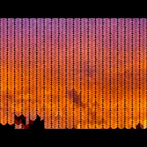 Sonnenuntergangsfarbiges Strickmuster