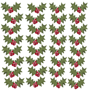 Weihnachtsmuster Weihnachtsblumen WINTERBEEREN