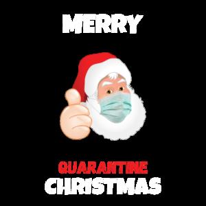 Frohe Quarantäne Weihnachtsentwurf