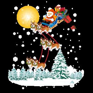 Weihnachtsschlitten Corgis
