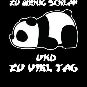 Panda Schlaf Baby Spruch Geschenkidee