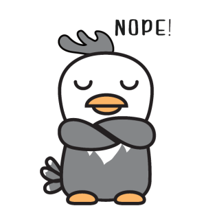 Lustiger immer dagegen Vogel No Nope nein
