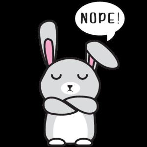 Lustiger immer dagegen Hase No Nope nein