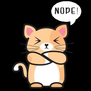 Lustiger immer dagegen Katze No Nope nein