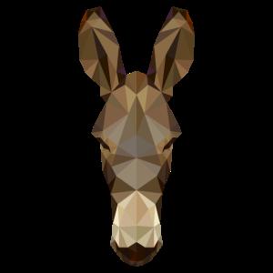 Geometrischer Esel Polygon Maultier Zeichnung