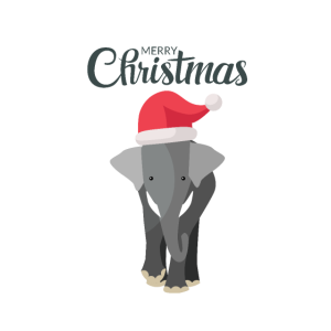 Weihnachtlicher Elefant
