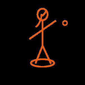 orange geometrischer Spieler