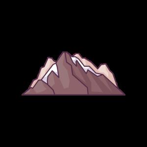 Felsige und schneebedeckte Berge