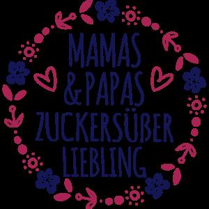 Mamas Papas süßer Liebling Baby Geburt Geschenk
