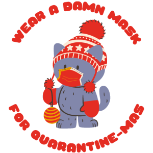 QuarantäneMas lustige Weihnachtsquarantänemaske
