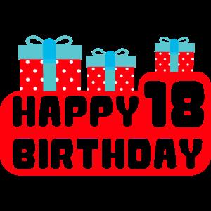 Happy Birthday achtzehn 18 Jahre