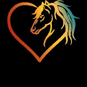 Pferde Reiterhof Reiterin Herzform