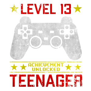 Level 13 Teenager Gamer Geburtstags Design gaming