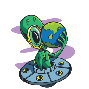 Alien T-Shirt Für Alle die Aliens Lieben