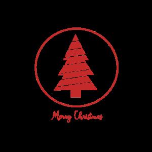 Einfacher roter kreisförmiger Weihnachtsentwurf
