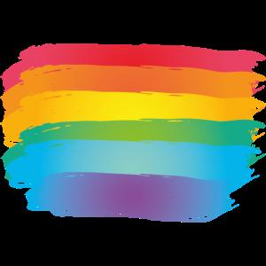 Farbe Klecks Spritzer Maler Geschenk LGBT Pride