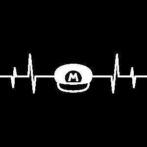 Herzschlag Super M Kappe Hut Handwerker Rot Mario