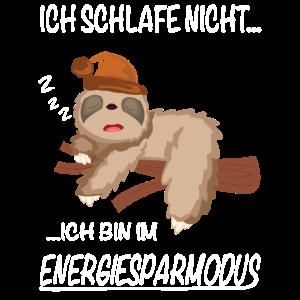 Faultier schlafshirt Energiesparmodus