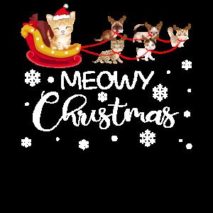Weihnachtsschlitten Kätzchen