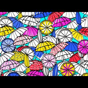 mehrfarbige Regenschirme