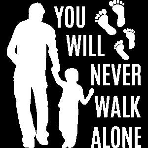 Vater und Sohn Papa Kind Dad Junge Fußabdruck Fun