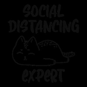 Soziale Distanz Corona Lustig Schwarz Weiß