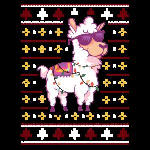Lustig Weihnachtliches Lama