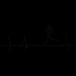 Läuferin Joggerin Heartbeat Frequenz Puls EKG