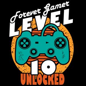 Geburtstag 10 Jahre Spieler Level 10