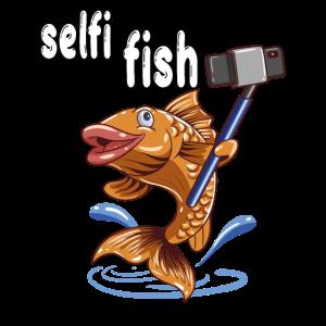 Selfi Fisch für einen Angler und Fischer