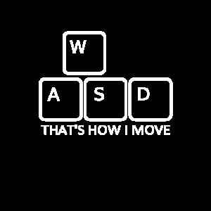 WASD Gaming Videospiel zocken am PC Computer wasd