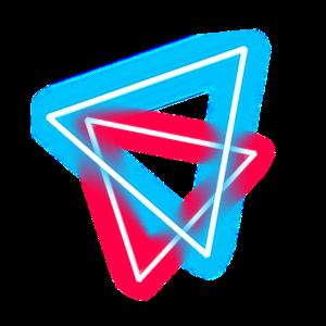 Rote und blaue Dreiecke