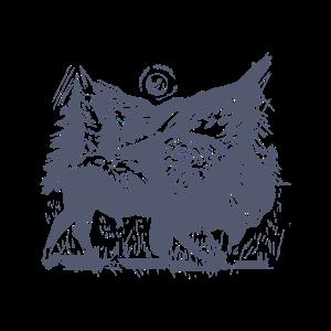 Handgezeichneter Bison