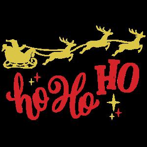 Ho Ho Ho Weihnachtsmann Rentierschlitten
