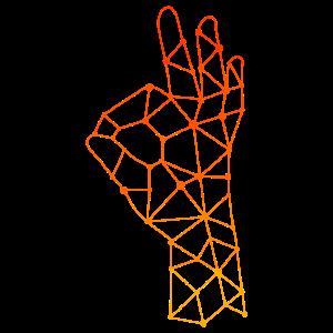 Polygon Taucher Zeichen Handzeichen Geschenk