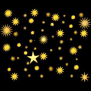 Sternenhimmel - Goldene Sterne 2