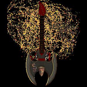 Tolle Fantasy-Gitarre, Steampunk