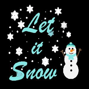 Let it Snow Schneemann Weihnachten Geschenkidee