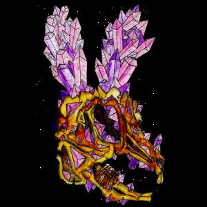 Gruseliges Kristallkaninchen