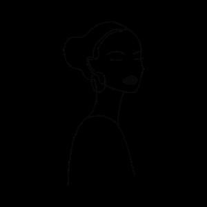Line Art Gesicht Kopf sinnlich Sketch nachdenklich