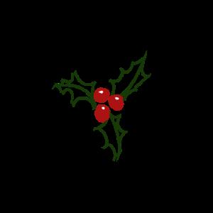 Einfaches Holly Design