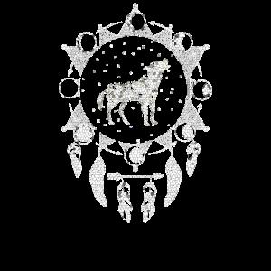 Geo Wolf Sternzeichen Traumfänger Geschenkidee