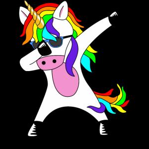 Dabbing Unicorn lustiges Unicorn Geschenk Idee