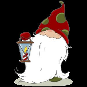 Weihnachten nordische Elf Wichtel Zwerg Laterne