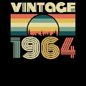 Vintage 1964 Geburtstag Retro Jahrgang Geschenk