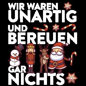 Weihnachtsmann Rentier XMAS Spruch Design