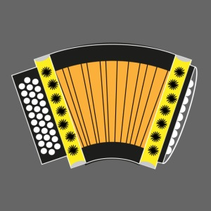 Schwyzerörgeli gelb schwarzer Hintergrund